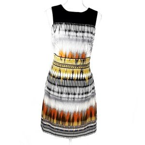 Luxology Abstract Watercolor Sheath Dress